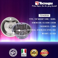 Tecnogas TS4351V Kitchen Sink