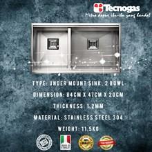 Tecnogas TSQ842V Kitchen Sink