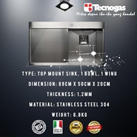 Tecnogas TSQ891V Kitchen Sink