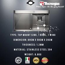 Tecnogas TSQ891V Kitchen Sink