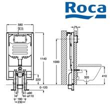 Water Tank untuk closet duduk Roca