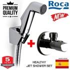 selang air Roca semprotan kloset modern + stop valve asli awet tdk mudah bocor 1