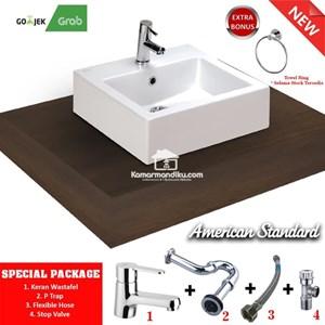 Dari  American Standard Special package Wastafel New MIZU 45 complet set 1