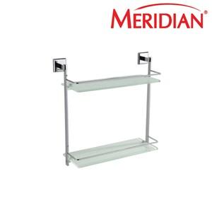Meridian Double Glass Shelf (Aksesoris Kamar Mandi) A-31310