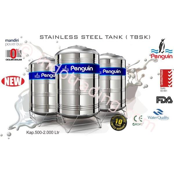 Tangki Air Stainless Steel  Tbs+K 500 (500Liter) Merk Penguin