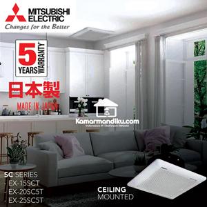 Dari MITSUBISHI EX-20SC5T Ceiling Mounted Ventilator Exhaust Fan Asli 1