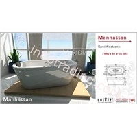 Bathtub Meridian Acrylic Crystal Manhattan