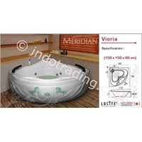 Bathtub Meridian Acrylic Crystal Vioria