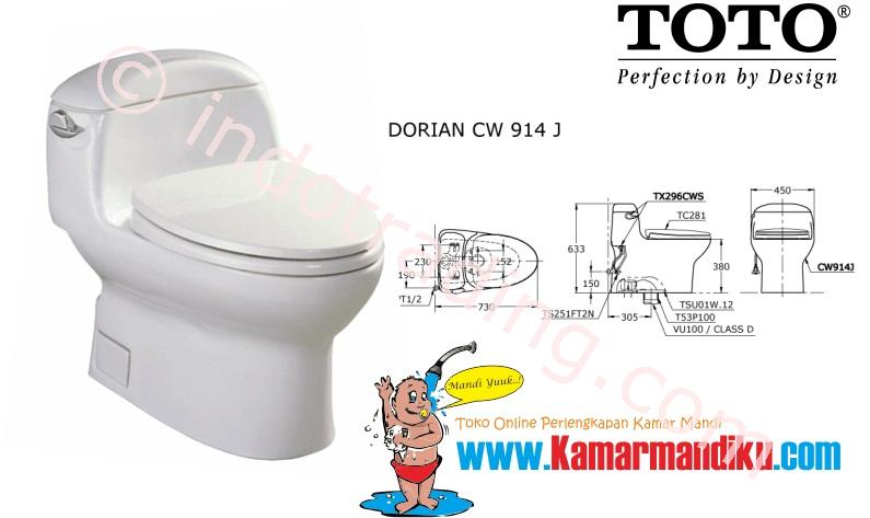 Sell Toto Toilet Cw 914J from Indonesia by Kamar Mandiku.Com,Cheap Price