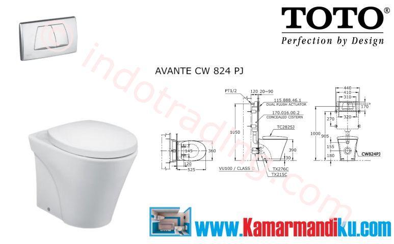 Sell Toto Toilet Cw 824Pj from Indonesia by Kamar Mandiku.Com,Cheap ...