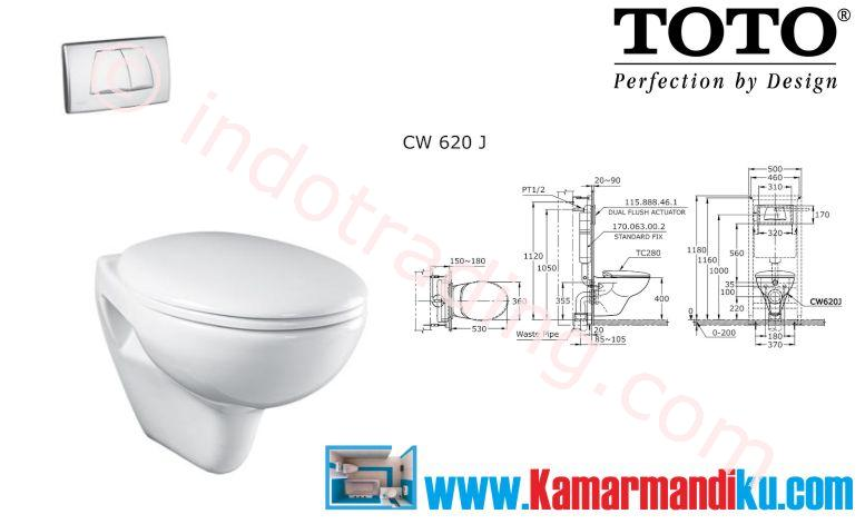 Sell Toto Toilet Cw 620J from Indonesia by Kamar Mandiku.Com,Cheap Price
