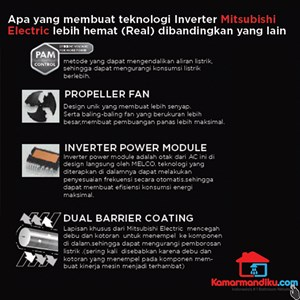 Dari Mitsubishi AC MS/MUY-JP10VF-NE1 Inverter Generasi Terbaru  1