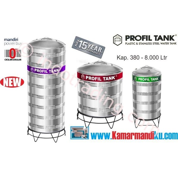 Tangki Air Stainless Steel Ps6000 (Kap 6000Liter) Merk Profil