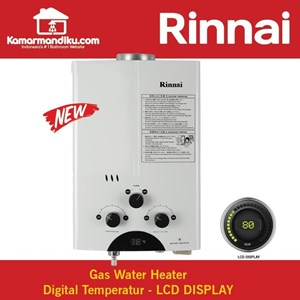 Dari RINNAI REU-5CFC Water Heater Gas ORIGINAL Dengan Digital Display 0