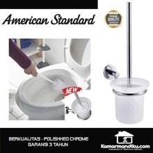 American Standard NEW Toilet Brush sikat kloset polished chrome premium