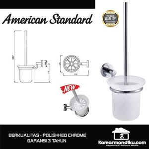 Dari American Standard NEW Toilet Brush sikat kloset polished chrome premium 1