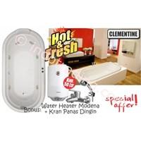 Paket Perlengkapan Kamar Mandi Bathtub Chrysolite Dan Pemanas Air