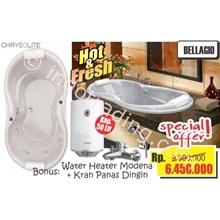 Paket Perlengkapan Kamar Mandi Bathtub Chrysolite Bellagio Dan Pemanas Air