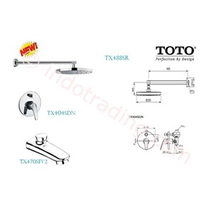 Toto Shower Set  Tx488srr+ Tx470sfv2+ Tx404sdn