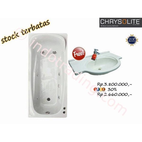 Promo Bathtub Crhysolite Free Wastafel Marble