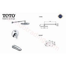 Toto Shower Set  Toto Tx488s+ Tx404shnbr+ Tx441sf