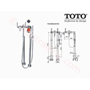 Toto Shower Floor Standing Tx445selmv3n