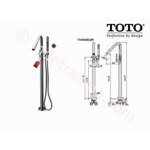 Toto Shower Floor Standing Tx494selbr