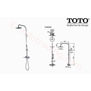 Shower Set Toto Tx 492 Sg