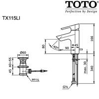 Jual TOTO TX115LI 2