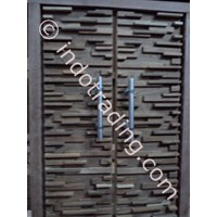 Pintu Depan Modern Minimalis Susun Bata 1