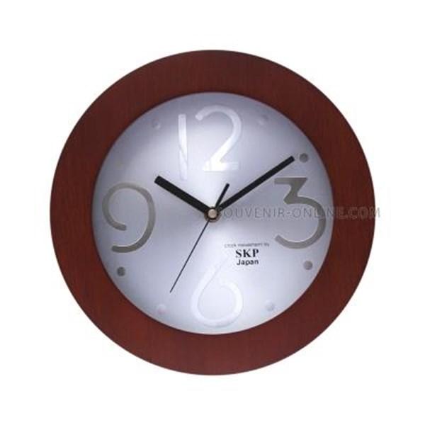 Jam Promosi Bahan Kayu Versailles Mesin Seiko 27 Cm