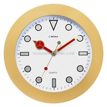 Jam Promosi Ring Gold Mesin Sweep 33 Cm