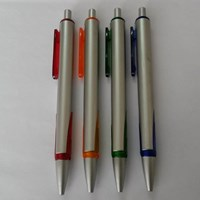 Barang Promosi Perusahaan Pulpen Plastik  Pencet 7885
