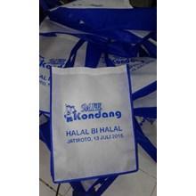 Tas Promosi Spunbond Biru Putih 35X26x10cm