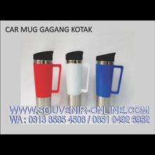 Gelas Promosi Souvenir Car Mug Gagang Kotak 500 Ml