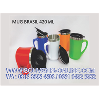 Souvenir Mug Promosi Brasil 420 Ml