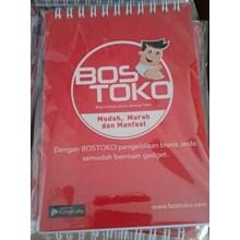 CETAK BUKU CATATAN ( BOOKNOTE ) COVER SPIRAL BOSTOKO 10.5 X 15 CM