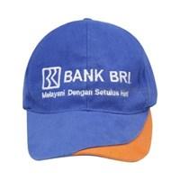 TOPI PROMOSI LOGO BORDIR BANK BRI