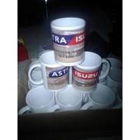 Mug Promosi Hot Press ( Mug Sublime ) Kemas Box Logo Stiker