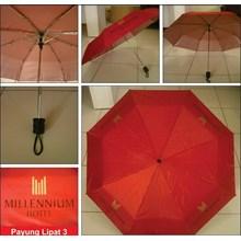 PAYUNG PROMOSI LIPAT 3 MERAH DALAM SILVER HOTEL MELLENNIUM