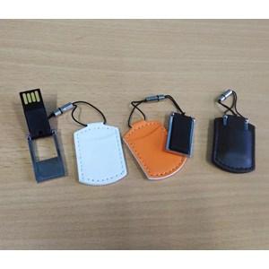 USB FLASH DISK DOMPET  KULIT HITAM PUTIH COKLAT 4 GB