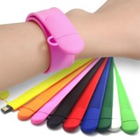 Usb Flash Disk Slap-On Wristband Style Promotional USB Memory Sticks