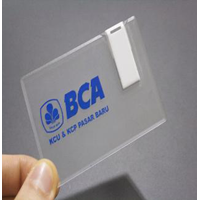 TRANSPARENT CARD USB FLASH DISK 8 GB  1