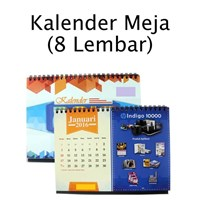 Cetak Kalender Meja 8 Lembar A5 AC 260gr