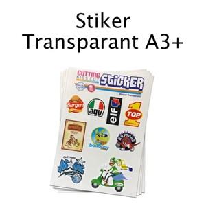 CETAK STIKER TRANSPARANT A3 PLUS