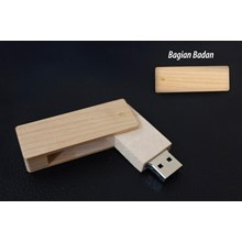 USB FLASH DISK WOOD SWIVEL ( FLASH DISK KAYU PUTAR ) 16GB