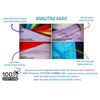Distributor Barang Promosi Perusahaan Kaos Reglan COTTON COMBED 24s 3