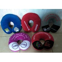 Jual Bantal dan Guling Bantal Leher Promosi Logo Bordir  2