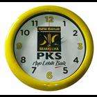 Jam Dinding  Promosi Parpol PKS kuning 30 cm  1