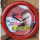 Jam Dinding Promosi Caleg Partai PDIP Ring Merah 30 cm  1